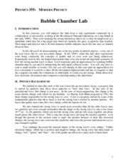 Bubble Chamer Lab (Homework 2)