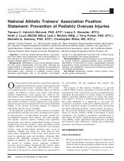 NATA Position Statement Prevention of Pediatric Overuse Injuries.pdf