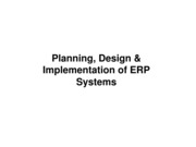 CH 8 Planning, Design, and Implementation of ERP Systems