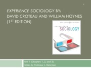 Chapter 1- Sociology in a Changing World