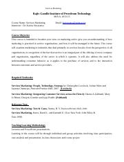 Final Course Outline_Services Marketing