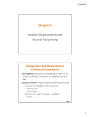 Lecture 4 Income Measurement