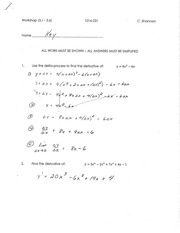 Calculus for Engineering Tech 1 workshop solutions 1