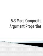 5-3 Other Composite Argument Properties