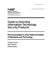 Module 7 - Reading Companion Tutorial 2 - Information Security Products & Standards - NIST-SP800-36.