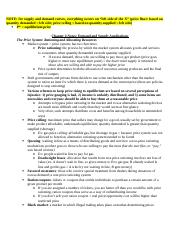 Chapter 4 Notes-Demand and Supply Applications