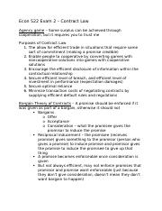 Econ 522 Exam 2 – Contract Law.docx