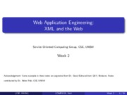 2.1.XML and the Web