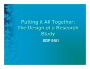 7 - Chapter 20 Designing a Research Study