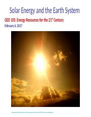 2017_02_06_Solar_Energy_and_the_Earth_System