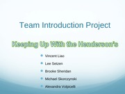 Team Introduction Project - SM299