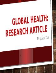 "Global Health"" Research Article-1.pptx"