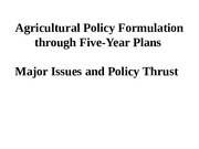 Five Year Plan_Agriculture