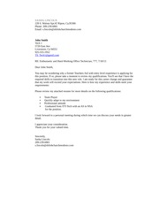 Cover letter with enclosures copy