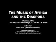 3-Africa and Ethnomusicology
