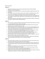 Chapter 13-15 critical thinking questions assignment