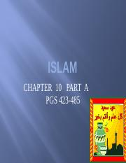 ISLAM  CHAPTER 10  PART A
