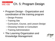 Ch 5 Program Design