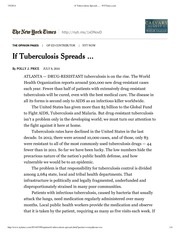 If Tuberculosis Spreads ... - NYTimes