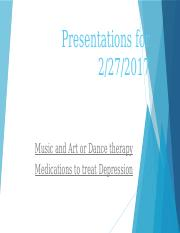 Music and Art Therapy and Medications for depression.pptx