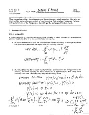 MSE 3.012 Quiz 3 Solutions