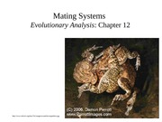 Lecture 25-Mating Systems