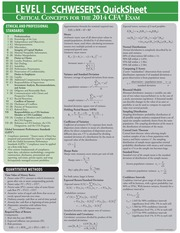 2014 CFA Level 1 Quicksheet