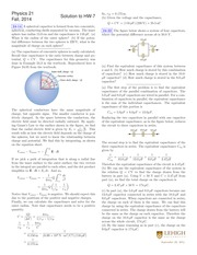 PHYS 21 Fall 2014 Homework 7 Solutions
