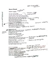 Dover Beach by Matthew Arnold Notes