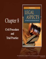 CH08 Civil Procedure and Trial Practice