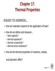 ch17 Thermal properties.ppt