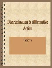 CE Topic 7a-  Discrimination and Affirmative Action.ppt