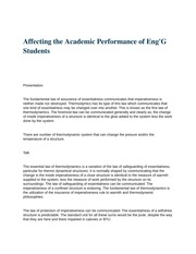 eng 430 (Affecting the Academic Performance of Eng'G Students)
