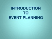 Event Planning Introduction (Presentation)