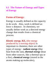 Thermo chemistry vocabulary