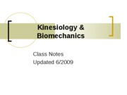 Kinesiology %26 Biomechanics-notesrev09
