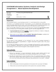 COIT20248Assignment 1 Specifications