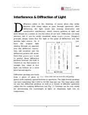 Interference and Diffraction of Light