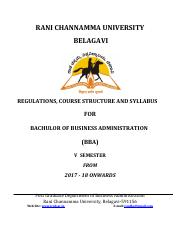 BBA V Semester 2017-18 (1) pdf - RANI CHANNAMMA UNIVERSITY