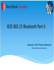 IEEE 802.15 Bluetooth Part II - NOTES