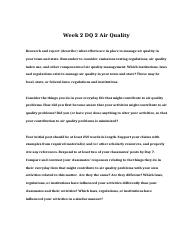 POL 310 Week 2 DQ 2 Air Quality.doc
