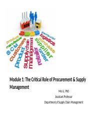 1.1 The Critical Role of Procurement and Supply Management_instructor.pptx