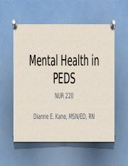 Mental Health in PEDS.pptx