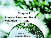 Corporate Finance Lecture 6_Chapter 7
