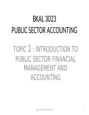 BKAL 3023 - TOPIC 1-2016