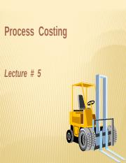 Lecture 5MA-Process Costing