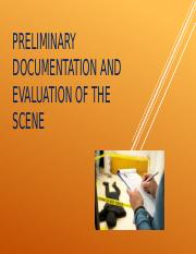 Preliminary Documentation and Evaluation of the Scene.pptx
