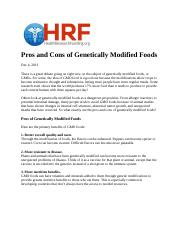Pros and Cons of Genetically Modified Foods.doc