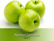 Nutrition Concepts (Unit1 p. 47)