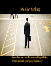 DECISION MAKING 6